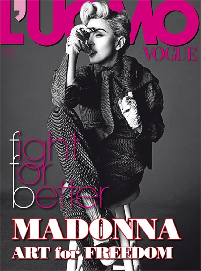 L'UOMO VOGUE Madonna in Art for Freedom by Tom Munro. Arianne Phillips, June 2014, www.imageamplified.com, Image Amplified (6)