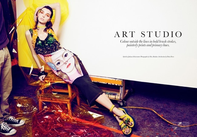 ELLE CANADA Dajana in Art Studio by Max Abadian. May 2014, Juliana Schiavinatto, Spring 2014, www.imageamplified.com, Image amplified (2)