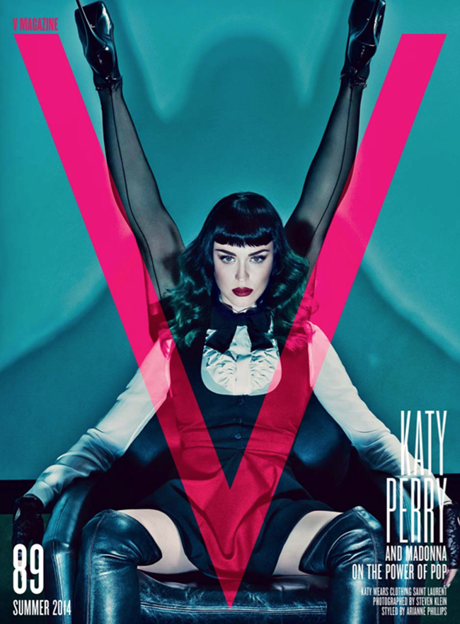 PREVIEW Madonna & Katy Perry for V Magazine, Summer 2014 3 Covers by Photographer Steven Klein. www.imageamplified.com, Image Amplified (1)