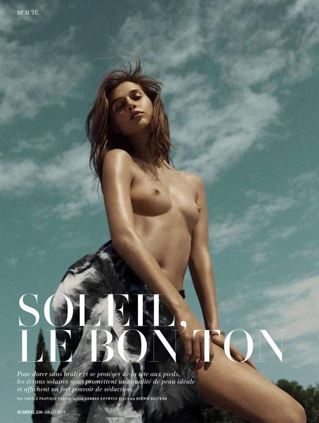 L'OFFICIEL PARIS Anais Pouliot in Soleil, Le Bon Ton by Hannah Khymych. Noemie Beltran, July 2014, www.imageamplified.com, Image Amplified (1)