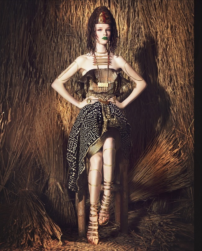 HOW TO SPEND IT MAGAZINE Charlotte Kay in Tribal Fashion by Damian Foxe. June 2014, www.imageamplified.com, Image Amplified (10)