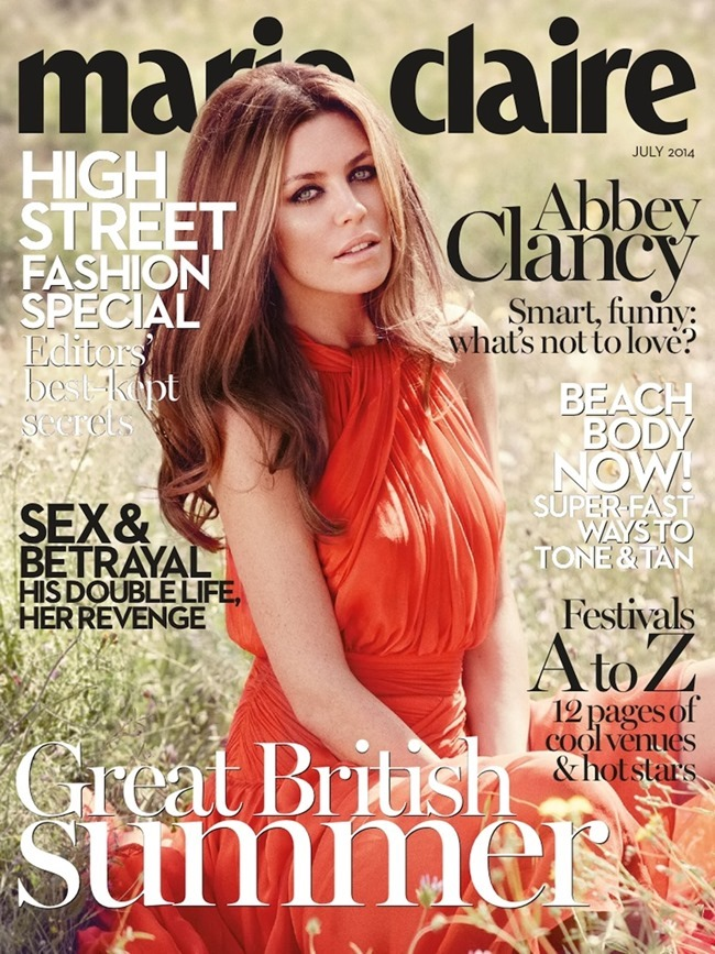 MARIE CLAIRE UK Abbey Clancy in Sweetheart by Fabio Chizzola. Jayne Pickering, June 2014, www.imageamplified.com, Image Amplified (4)