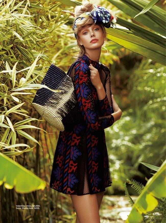 C MAGAZINE Frida Gustavsson in Bird of Paradise by Hilary Walsh. Samantha Traina, Summer 2014, www.imageamplified.com, Image Amplified (5)