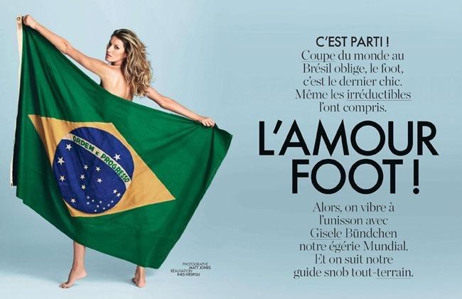 ELLE FRANCE Gisele Bundchen in L'amour Foot! by Matt Jones. Ines Nespoli, June 2014, www.imageamplified.com, Image Amplified (2)