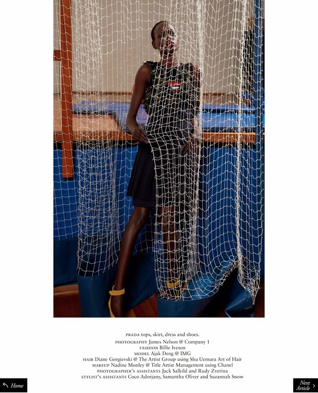 RUSSH MAGAZINE Ajak Deng in She's Got Game by James Nelson. Bille Iveson, July 2014, www.imageamplified.com, Image Amplified (1)