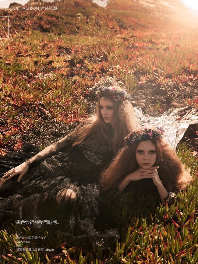VOGUE CHINA Kati Nescher & Natalie Westling in Smells Like Teen Spirit by Mikael Jansson. Anastasia Barbieri, July 2014, www.imageamplified.com, Image Amplified (18)