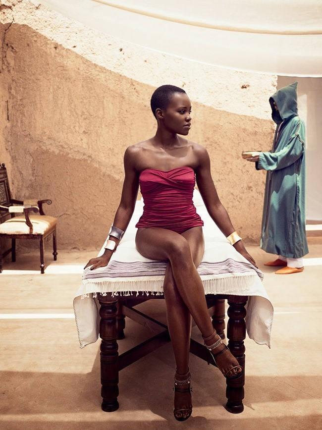 VOGUE MAGAZINE Lupita Nyong'o by Mikael Jansson. Phyllis Posnick, July 2014, www.imageamplified.com, Image Amplified (1)