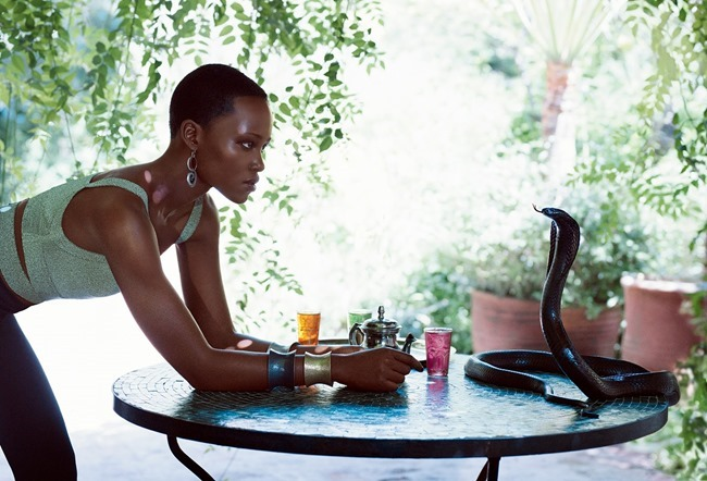 VOGUE MAGAZINE Lupita Nyong'o by Mikael Jansson. Phyllis Posnick, July 2014, www.imageamplified.com, Image Amplified (2)