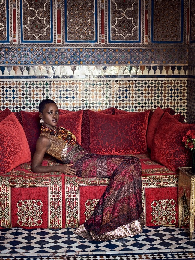 VOGUE MAGAZINE Lupita Nyong'o by Mikael Jansson. Phyllis Posnick, July 2014, www.imageamplified.com, Image Amplified (8)