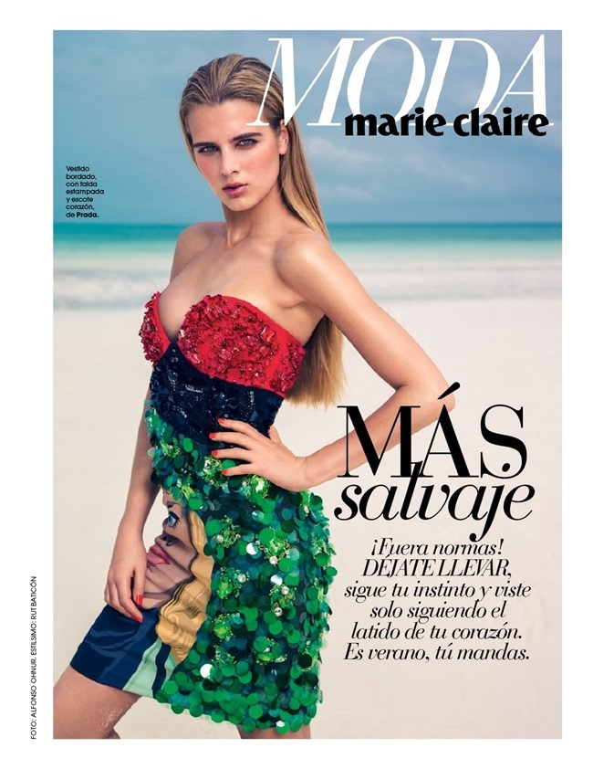 MARIE CLAIRE SPAIN Tamara Weijenberg in La Venus Dorada by Alfonso Ohnur. Rut Baticon, July 2014, www.imageamplified.com, Image amplified (2)