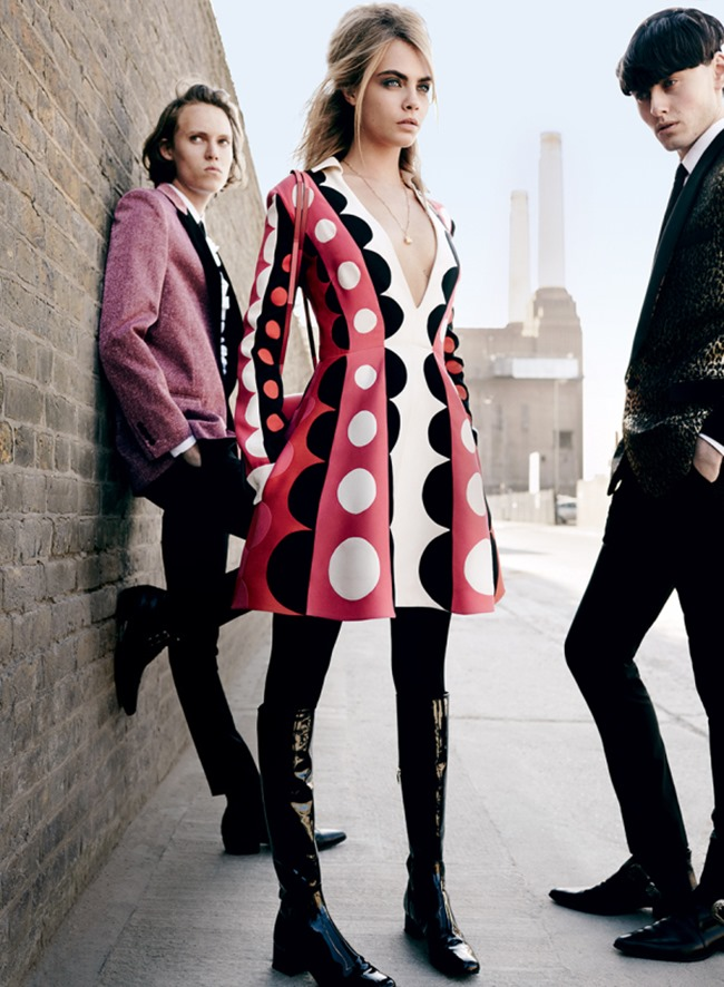 VOGUE MAGAZINE Cara Delevigne, Josh Nickerson & Matthew Whitehouse in Mod Goddes by Mario Testino. Grace Coddington, July 2014, www.imageamplified.com, Image Amplified (4)