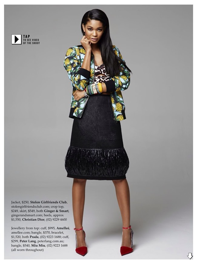 ELLE AUSTRALIA Chanel Iman in Tropical Punch by Pierre Toussaint. Nicole Bonython-Hines, February 2014, www.imageamplified.com, image Amplified (3)