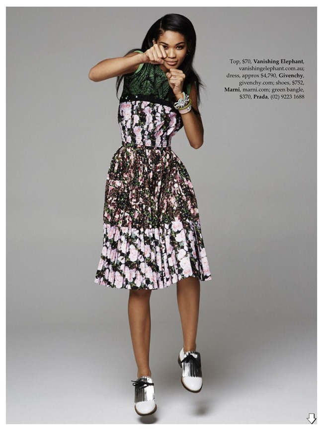 ELLE AUSTRALIA Chanel Iman in Tropical Punch by Pierre Toussaint. Nicole Bonython-Hines, February 2014, www.imageamplified.com, image Amplified (7)