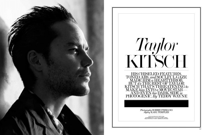 INTERVIEW MAGAZINE Taylor Kitsch by Robbie Fimmano. Karl Templer, February 2014, www.imageamplified.com, Image Amplified (2)
