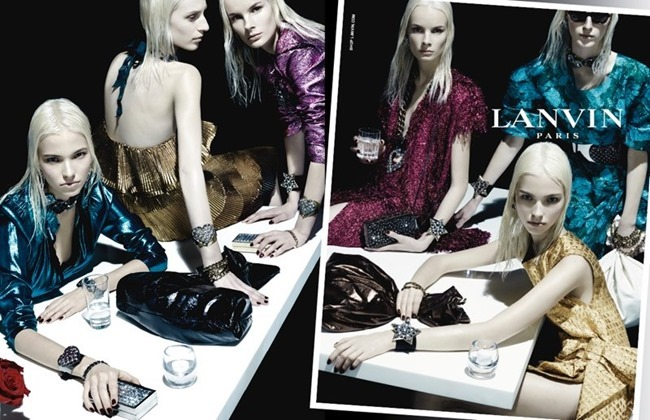 CAMPAIGN Julia Nobis, Laurie Harding & Sasha Luss for Lanvin Spring 2014 by Steven Meisel. www.imageamplified.com, Image amplified (1)