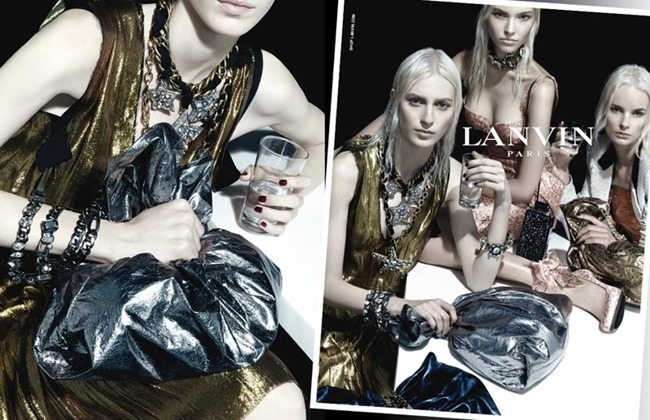 CAMPAIGN Julia Nobis, Laurie Harding & Sasha Luss for Lanvin Spring 2014 by Steven Meisel. www.imageamplified.com, Image amplified (2)