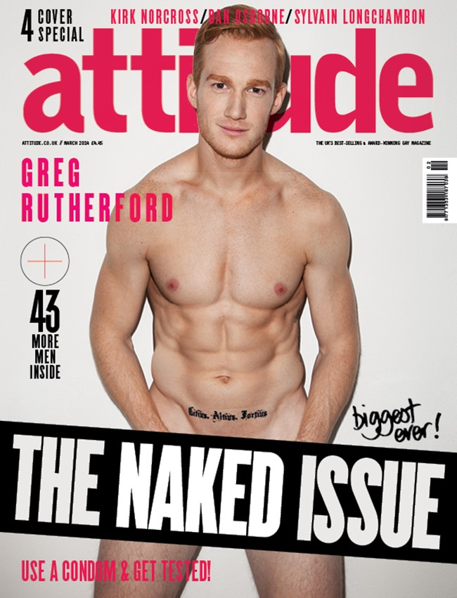 PREVIEW Kirk Norcross, Sylvain Longchambon, Dan Osborne & Greg Rutherford in The Naked Issue for Attitude UK, March 2014, www.imageamplified.com, Image Amplified (3)