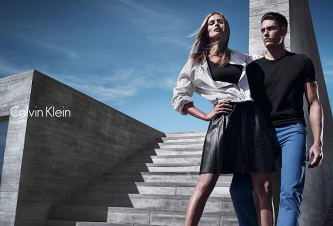 CAMPAIGN Edita Vilkeviciute & Tyson Ballou for Calvin Klein White Label Spring 2014 by Mario Sorrenti. George Cortina, www.imageamplified.com, Image Amplified (5)