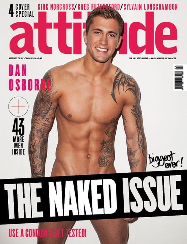 MASCULINE DOSAGE Dan Osborne in The Naked Issue for Attitude UK, March 2014. www.imageamplified.com, Image Amplified (1)