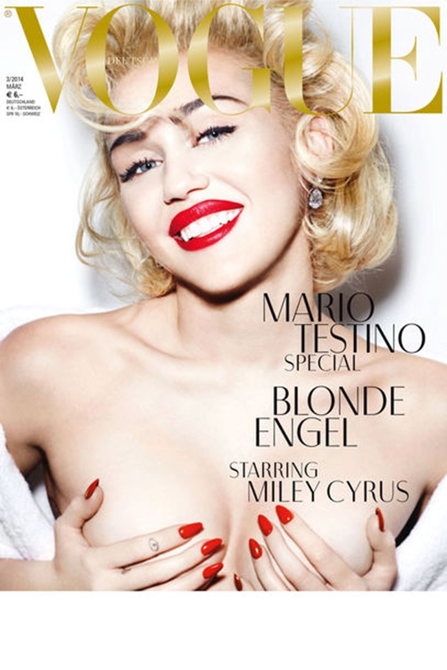 PREVIEW: Miley Cyrus for Vogue Germany, March 2014 by Mario Testino. www.imageamplified.com, Image Amplified