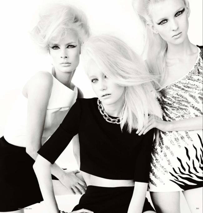 VOGUE GERMANY Irene Hiemstra Anabela Belikova, Anmari Botha & Nastya Sten in White on Blonde by Mario Testino. Sarajane Hoare, March 2014, www.imageamplified.com, Image amplified (9)