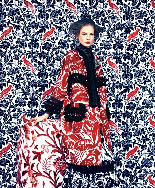 HARPER'S BAZAAR MAGAZINE Elisabeth Erm in Prints Of The Season by Erik Madigan Heck. Joanna Hillman, March 2014, www.imageamplified.com, Image Amplified (6)