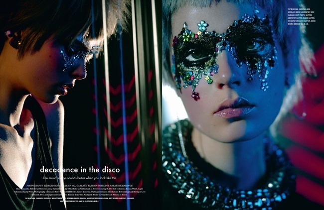 I-D MAGAZINE Caroline Brasch Nielsen in Decadence In The Disco by Richard Bush. Sarah Richardson, Spring 2014, www.imageamplified.com, Image Amplified (1)