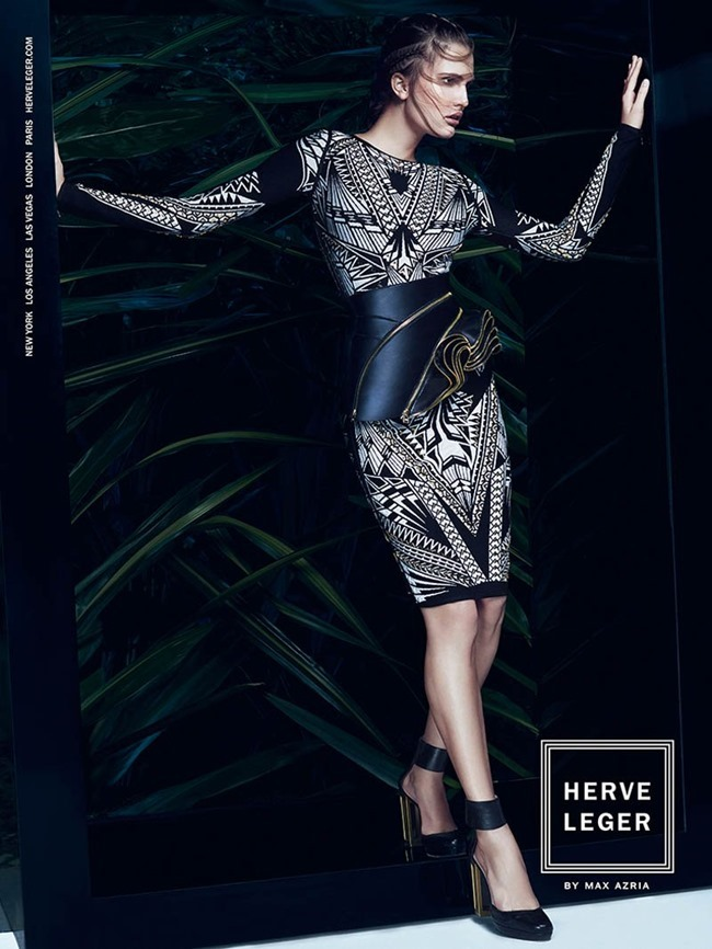 CAMPAIGN Alla Kostromichova for Herve Leger by Max Azria Sprign 2014 by Mikael Kangas. Laura Ferrara, www.imageamplified.com, Image Amplified (6)
