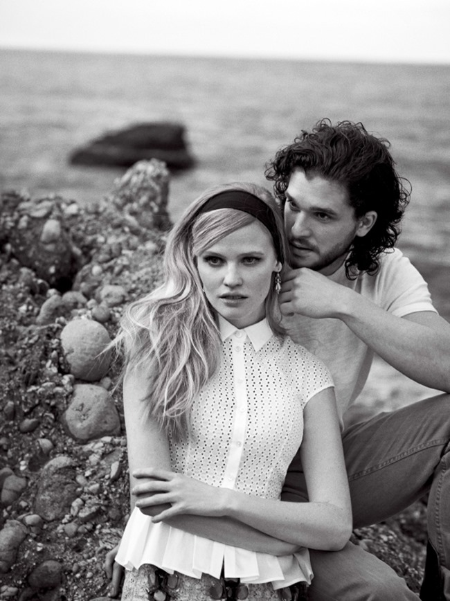 VOGUE MAGAZINE Lara Stone & Kit Harington in A Fine Romance by Peter Lindbergh. Tabitha Simmons, March 2014, www.imageamplified.com, Image Amplified (3)