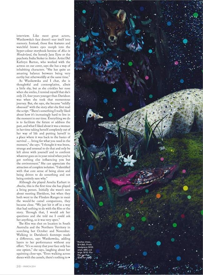 VOGUE AUSTRALIA Mia Wasikowska in The Magic oOf Mia by Emma Summerton. Jillian Davison, March 2014, www.imageamplified.com, Image Amplified (4)
