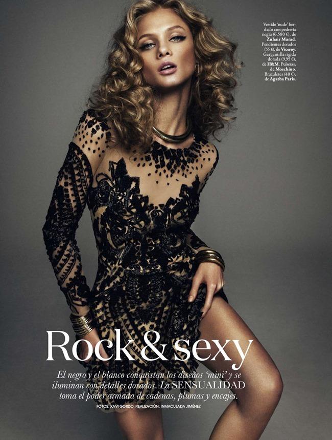 ELLE SPAIN Anna Selezneva in Rock & Sexy by Xavi Gordo. Inmaculada Jimenez, March 2014, www.imageamplified.com, Image amplified (3)
