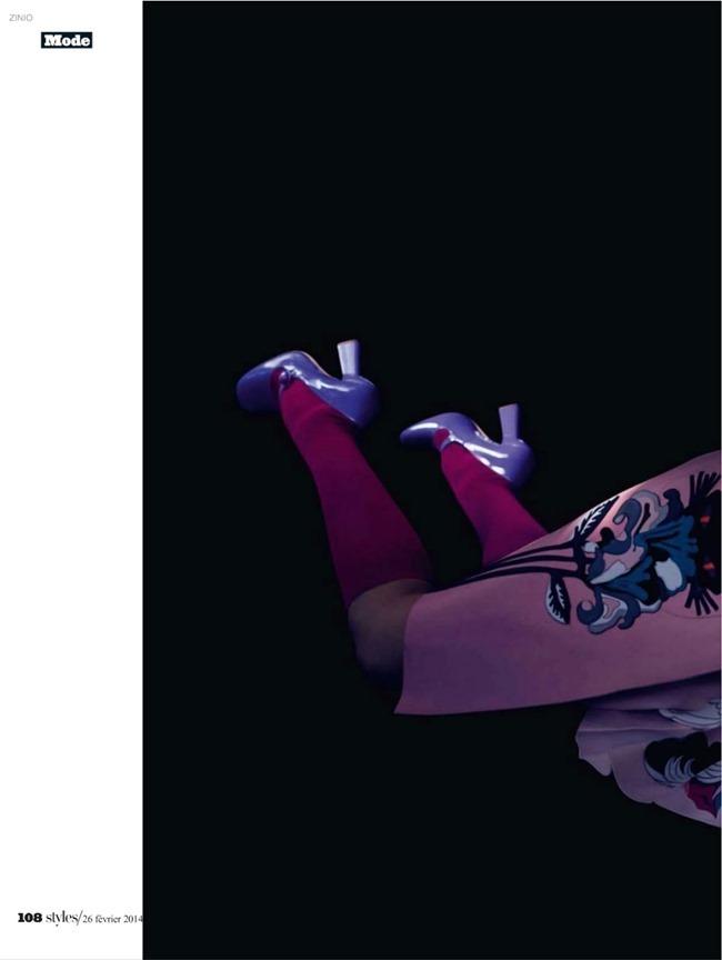 L'EXPRESS STYLES Jessica Stam & Ava Smith in Revue De Saison by Dusan Reljin. Mika Mizutani, February 2014, www.imageamplified.com, Image Amplified (19)