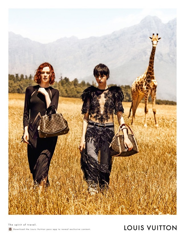 CAMPAIGN Karen Elson & Edie Campbell in Spirit of Travel for Louis Vuitton Spring 2014 by Peter Lindbergh. www.imageamplified.com, Image Amplified (3)