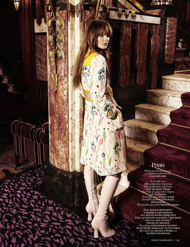 VOGUE NETHERLANDS Eniko Mihalik in Oh You Pretty Thing by Alique. Marije Goekoop, March 2014, www.imageamplified.com, Image Amplified (1)