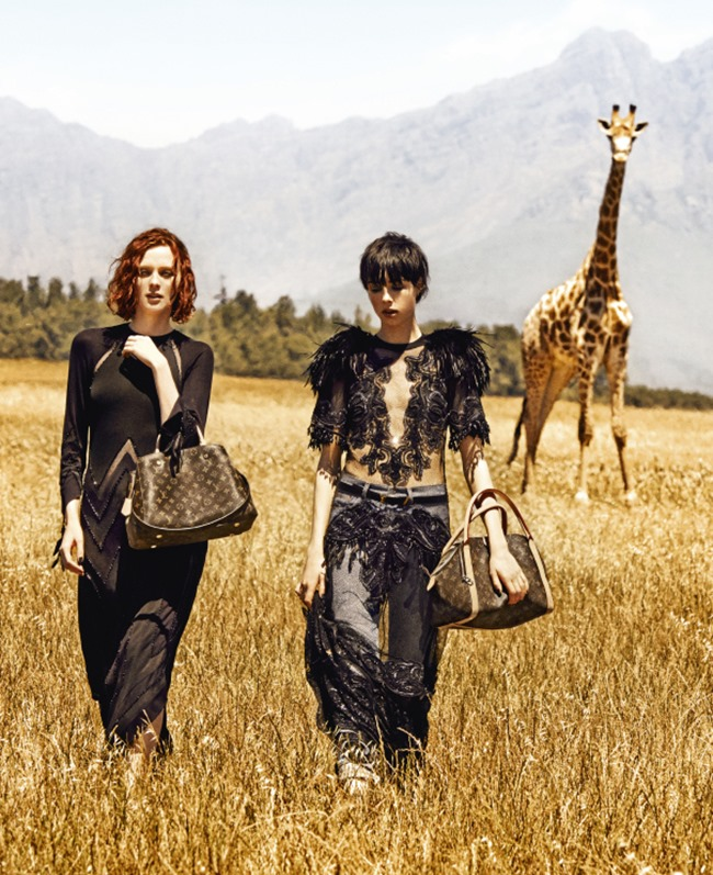 CAMPAIGN Karen Elson & Edie Campbell for Louis Vuitton's Spirit Of Travel Spring 2014 by Peter Lindbergh. Carine Roitfeld, www.imageamplified.com, Image Amplified (1)