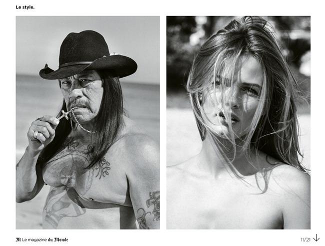 M LE MONDE Edita Vilkeviciute & Danny Trejo by Bruce Weber. Aleksandra Woronieck, March 2014, www.imageamplified.com, Image Amplified (3)