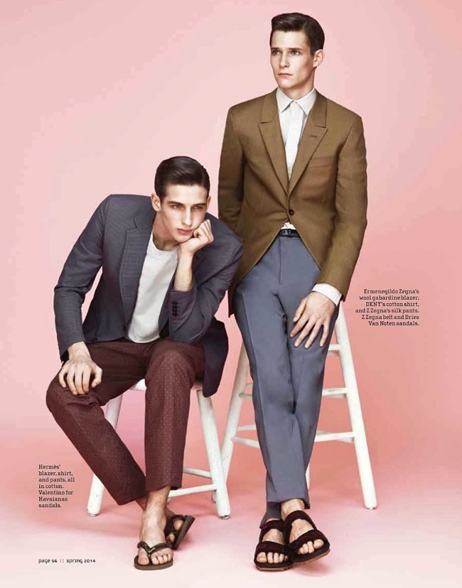 M MAGAZINE Ian Sharop & Philip Witts in Power Suits by Jason Kim. Alex Badia, Spring 2014, www.imageamplified.com, Image Amplified (3)