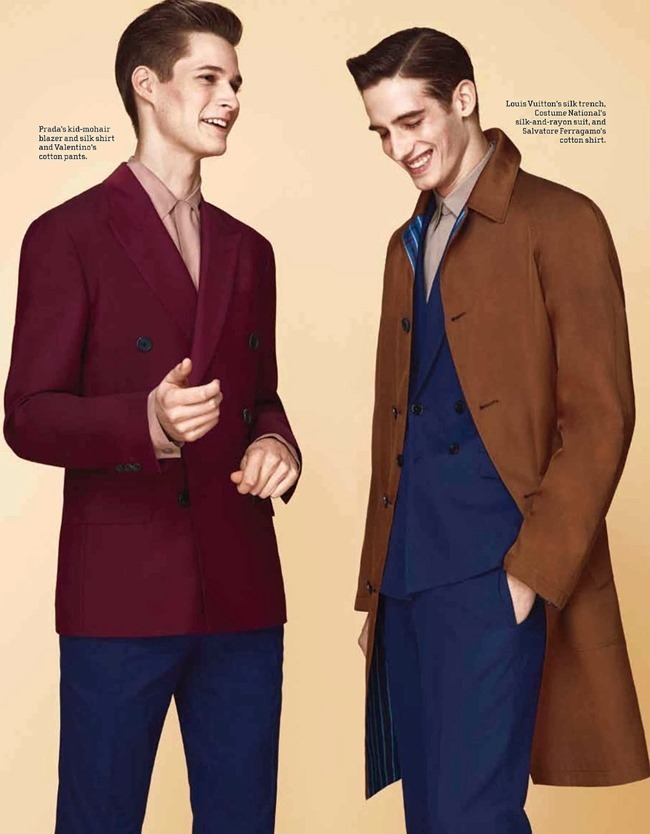 M MAGAZINE Ian Sharop & Philip Witts in Power Suits by Jason Kim. Alex Badia, Spring 2014, www.imageamplified.com, Image Amplified (4)