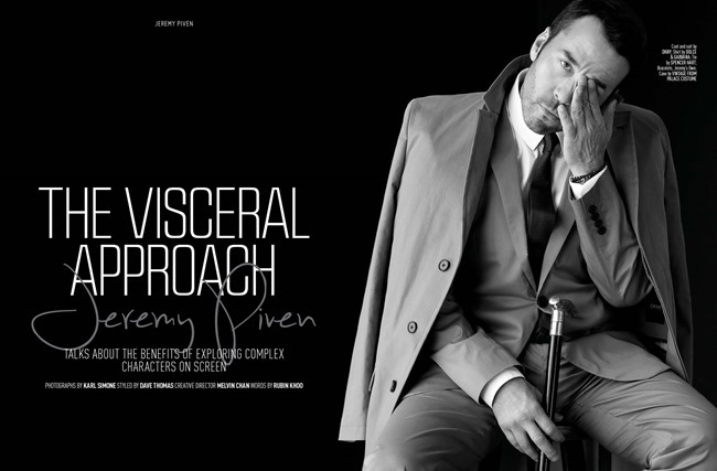 AUGUST MAN MAGAZINE Jeremy Piven in The Visceral Approach by Karl Simone. Dave Thomas, Spring 2014, www.imageamplified.com, Image Amplified