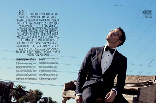 AUGUST MAN MAGAZINE Jeremy Piven in The Visceral Approach by Karl Simone. Dave Thomas, Spring 2014, www.imageamplified.com, Image Amplified (4)