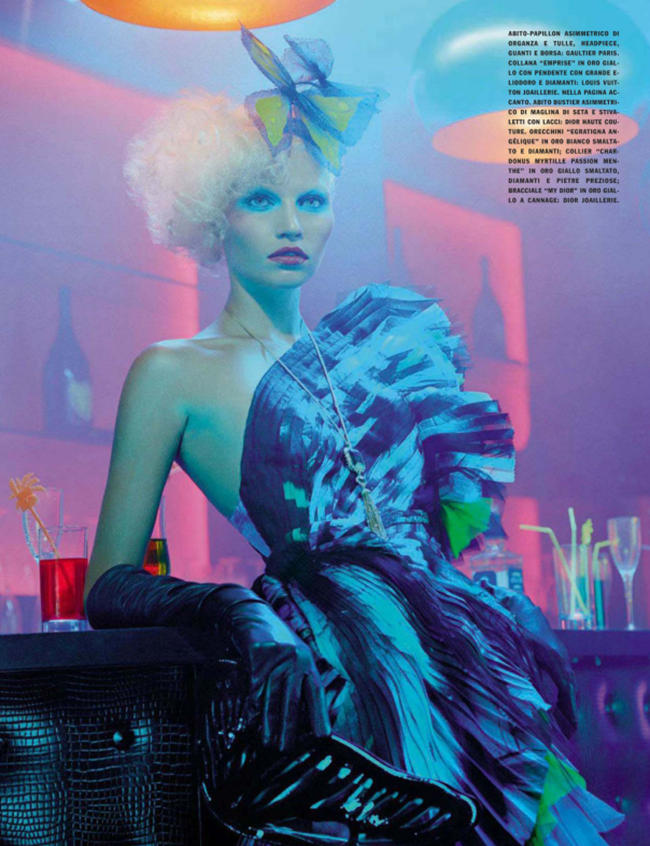 VOGUE ITALIA Aline Weber in A Dazzling Party by Miles Aldridge. Alice Gentilucci, March 2014, www.imageamplified.com, Image Amplified (10)