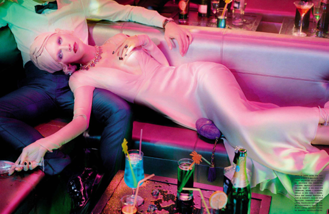 VOGUE ITALIA Aline Weber in A Dazzling Party by Miles Aldridge. Alice Gentilucci, March 2014, www.imageamplified.com, Image Amplified (6)