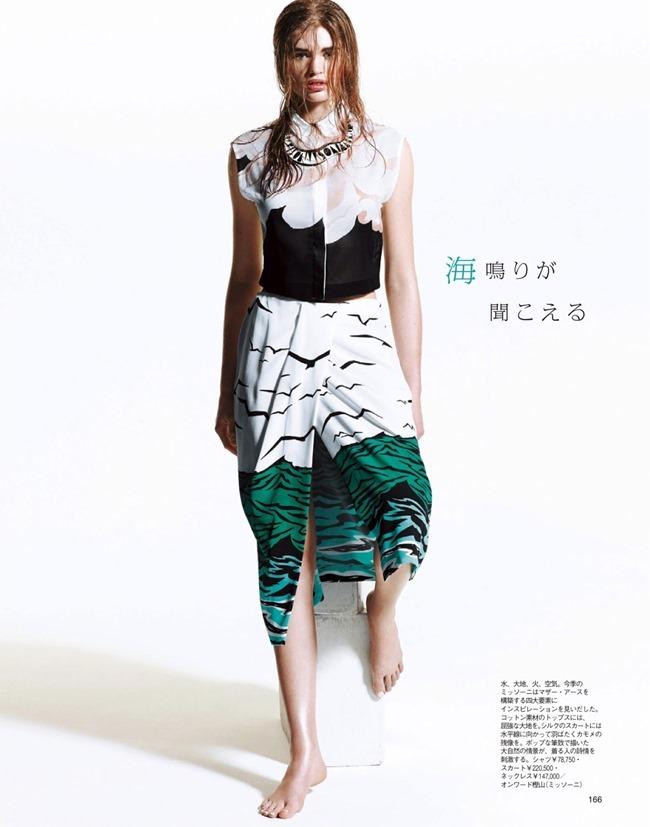 SPUR MAGAZINE Eva Klimkova & Ella Merryweather in Love Earth, Love Mode by Makoto Nakagawa. Miyuki Uesugi, April 2014, www.imageamplified.com, Image Amplified (11)