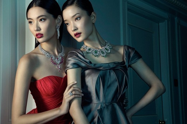 PRESTIGE MAGAZINE Du Juan & Vonnie Chen in Van Cleef & Arpels by Richard Ramos. Denise Ho, Spring 2014, www.imageamplified.com, Image amplified (1)