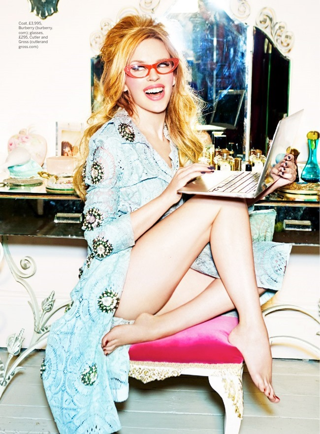 STYLIST MAGAZINE Kylie Minogue in Domestic Goddess by Ellen von Unwerth. Alexandra Fullerton, March 2014, www.imageamplified.com, Image Amplified (3)