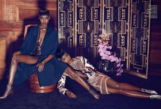 FLAIR MAGAZINE Betty Adewole & Alima Fofana in Fashion 1 by Paola Kudacki. Melanie Huynh, April 2014, www.imageamplified.com, Image amplified (1)