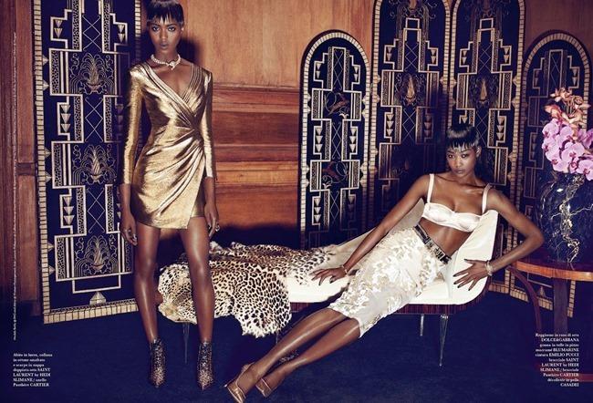 FLAIR MAGAZINE Betty Adewole & Alima Fofana in Fashion 1 by Paola Kudacki. Melanie Huynh, April 2014, www.imageamplified.com, Image amplified (2)