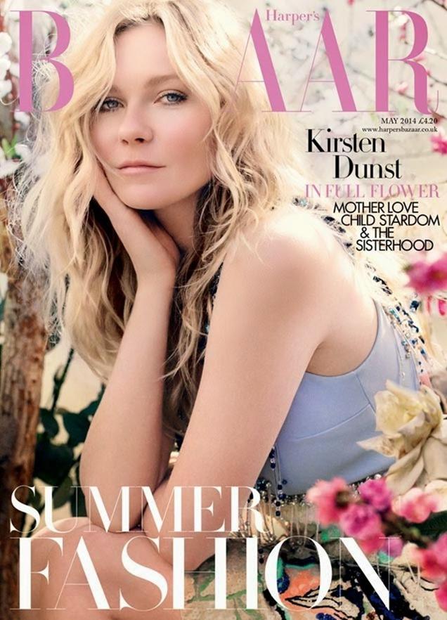 HARPER'S BAZAAR UK Kristen Dunst in American Beauty by David Slijper. Leith Clark. May 2014, www.imageamplified.com, Image Amplified (1)