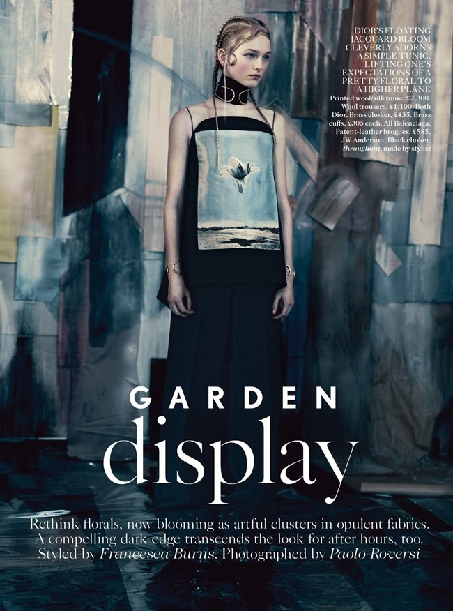 VOGUE UK Jean Campbell in Garden Display by Paolo Roversi. Francesca Burns, May 2014, www.imageamplified.com, Image Amplified (1)