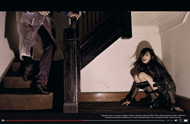 VOGUE ITALIA Issa Lish, Natalie Westling & Bernd Sassmannhausen in Horror Movie by Steven Meisel. Karl Templer, April 2014, www.imageamplified.com, Image Amplified (5)
